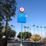 LA River Bike Trail Sign