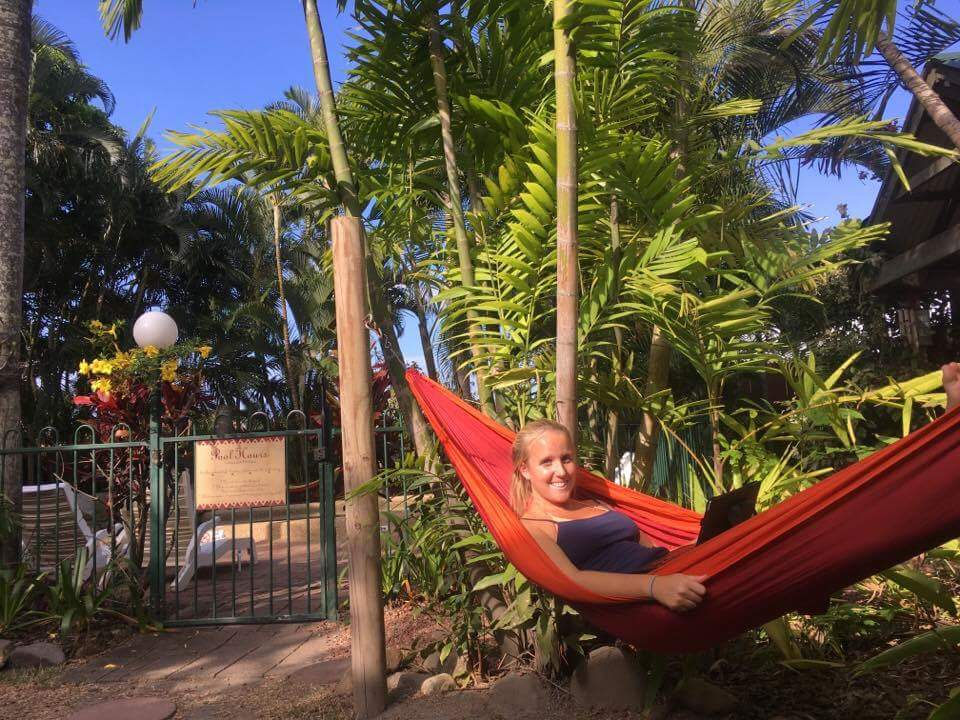 Not this girl, and not this hammock, but let's pretend.